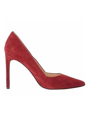 Nine West %100 Süet Stiletto Ayakkabı Kırmızı
